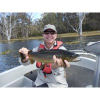Great trout fly fishing