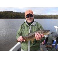 Fly fishing Dee Lagoon