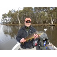 Trout fishing on fly Dee_Lagoon
