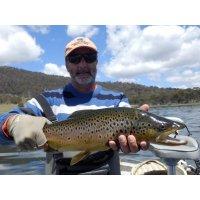 Tom fly fishing Woods Lake